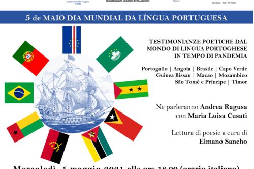 5 de Maio dia Mundial da Lingua Portuguesa – Testimonianze Poetiche dal mondo di lingua portoghese in tempo di pandemia